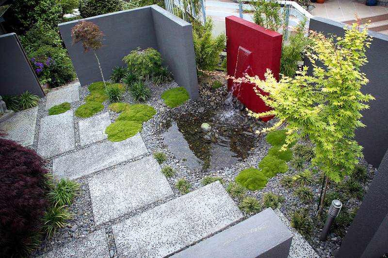 red water feature