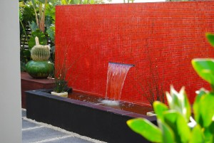 red tile landscaping