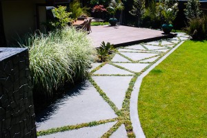 concrete shaped paved areas